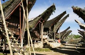 AS_RLE_Sulawesi_Torajaland_Dorf_mit_Reisspeichern